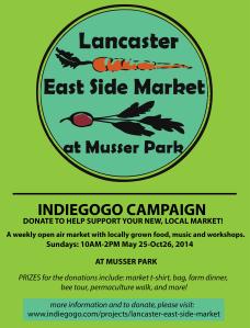East Side Market Indie Gogo Flier